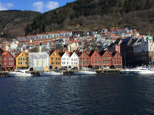 Bergen from the boat