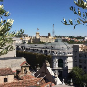 """Views from the terrace at the """"The Principal Madrid Hotel"""""""
