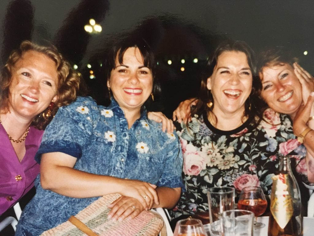 Susannah with INC friends in 1990-2019