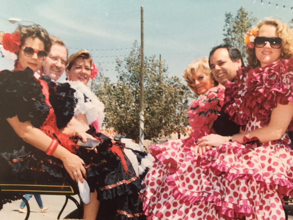 Susan at the Feria de Sevilla in 1992
