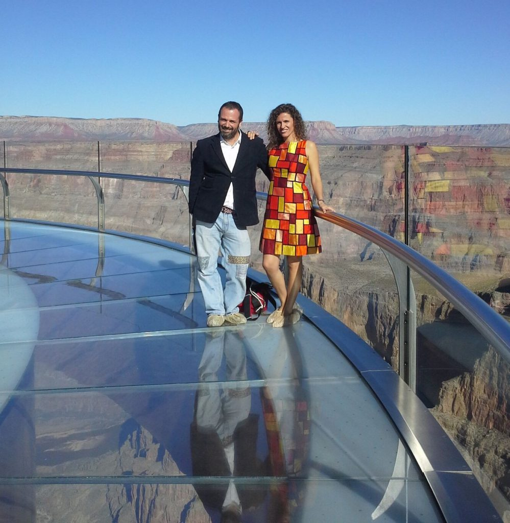 Diego and Laura in the Grand Canyon