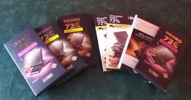 7 bars of dark chocolate to keep author sane