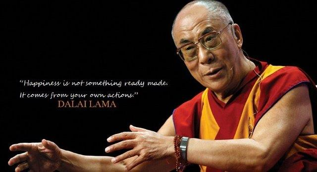 Dalai Lama´s theory of happiness as a skill we acquire from our own actions